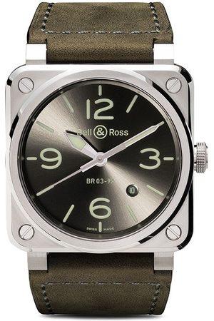 Bell & Ross Herren Uhren - BR 03-92 Steel' Fliegeruhr, 42mm