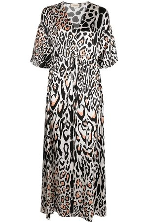 TEMPERLEY LONDON Kaftan mit Leo-Print