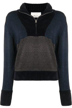 3.1 Phillip Lim Damen Strickpullover - Pullover in Colour-Block-Optik