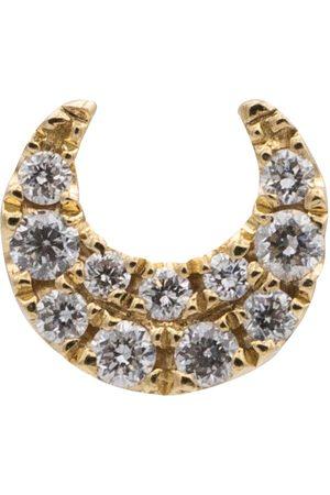 Maria Tash Einzelner Ohrring Moon Small aus 14kt Gelbgold mit Diamanten