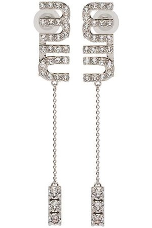 Miu Miu Damen Ohrringe - Hängeohrringe mit Kristallen