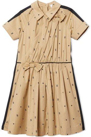 Burberry Ausgestelltes Kleid mit Sternen und Monogramm