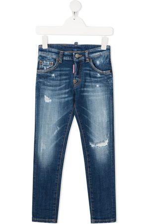 Dsquared2 Kids Gerade TEEN Jeans mit Distressed-Detail