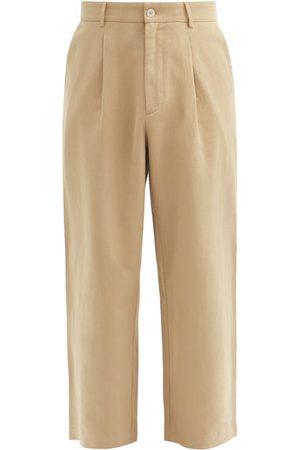 Raey Cotton And Linen-blend Wide-leg Trousers