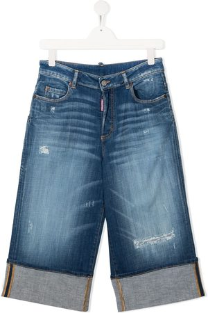 Dsquared2 Kids TEEN Cropped-Jeans mit Distressed-Detail