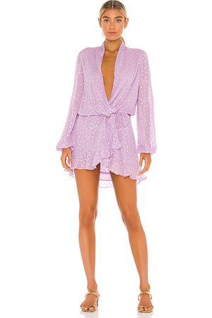 ROCOCO SAND X REVOLVE Lurex Dress in . Size S.