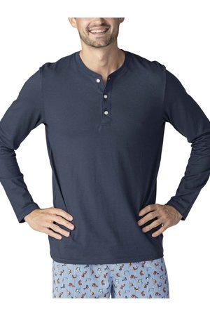 Mey Club Langarm-Shirt mit Knopfleiste