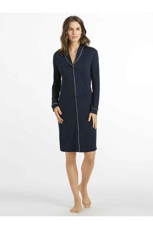 Hanro Natural Comfort Durchgeknöpftes Nachtkleid, Länge 100cm