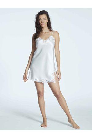 Eva B. Bitzer Satin Silk With Lace Seiden-Negligé