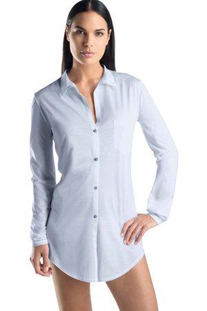 Hanro Cotton Deluxe - Carry Nachthemd geknöpft, Länge 90cm