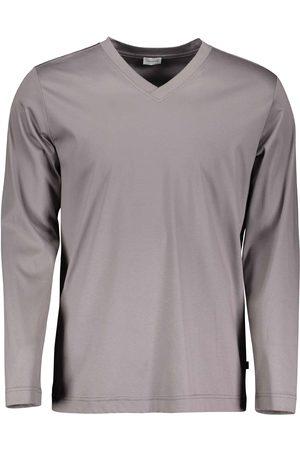 Zimmerli Supreme Green Cotton New Langarm-Shirt, V-Neck