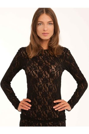 Hanky Panky Damen Longsleeves - Signature Lace Unlined Long Sleeve Top