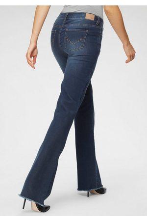 H.I.S Regular-fit-Jeans »Bootcut mit ausgefranstem Saum« Nachhaltige, wassersparende Produktion durch OZON WASH
