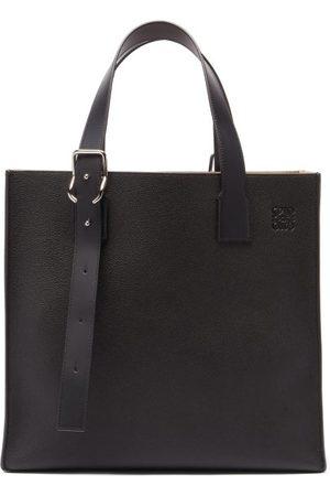 Loewe Buckle Grained-leather Tote Bag