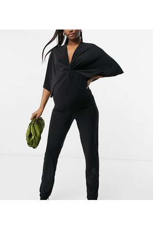 Blume Maternity – Jumpsuit mit Knotendetail in