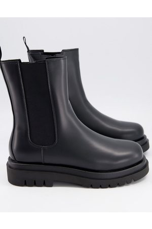Truffle Collection Tall – Klobige Chelsea-Stiefel in