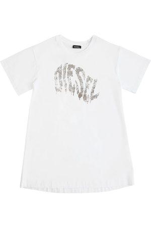Diesel Kleid Aus Baumwolljersey Mit Logo