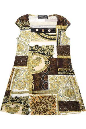 VERSACE Kleid Aus Baumwolljersey Mit Baroquedruck