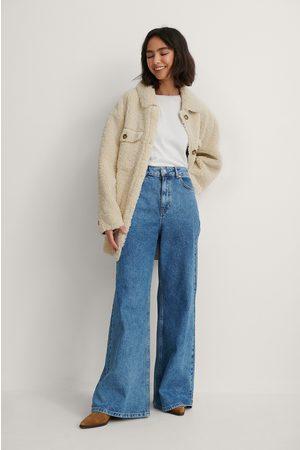 NA-KD Recycelt Jeans Mit Sehr Weiten Beinen - Blue