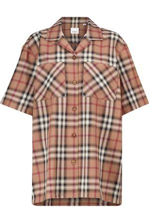 Burberry Kariertes Hemd aus Baumwoll-Twill