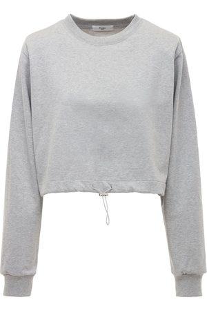 The Frankie Shop Damen Sweatshirts - Sweatshirt Aus Baumwolljersey