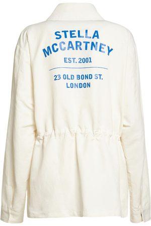 Stella McCartney Damen Blusen - Bluse Aus Baumwollmischtwill Mit Logo