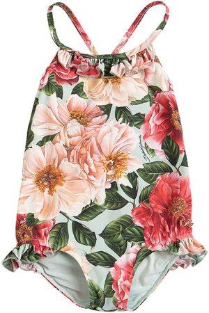 Dolce & Gabbana Badeanzug Aus Lycra Mit Blumendruck