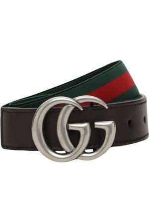 Gucci Elastischer Gürtel Mit Webdetails
