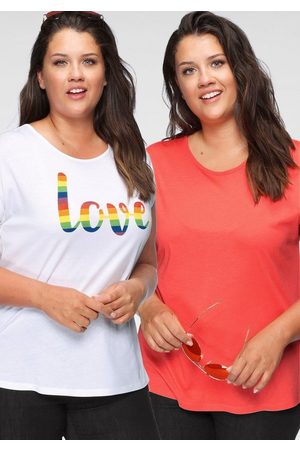 FLASHLIGHTS T-Shirt »Pride Edition« (Packung, 2er-Pack) mit überschnittenen Schultern & kleinem Ärmelaufschlag