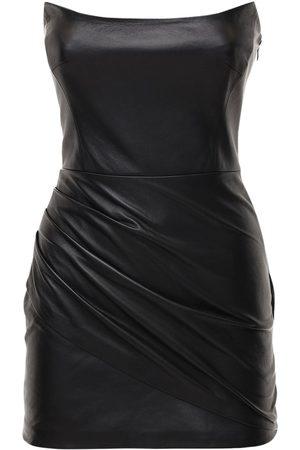 Zeynep Arcay Damen Freizeitkleider - Minikleid Aus Leder