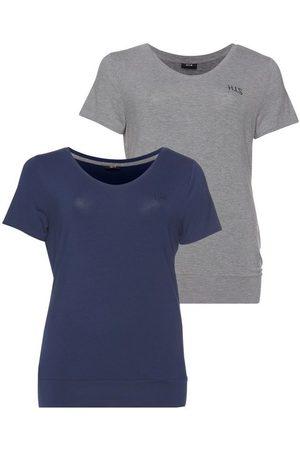 H.I.S T-Shirt »Nachhaltige LENZING™ ECOVERO™ Viskose« (2er-Pack) Große Größen
