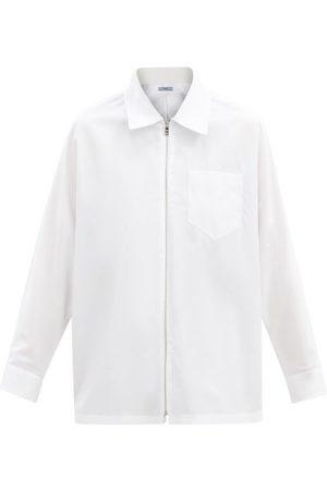 Prada Zip-through Cotton-poplin Shirt