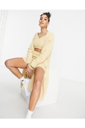 adidas – Relaxed Risqué – Flauschige Oversize-Strickjacke in