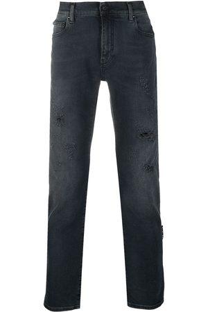 Off-White Herren Bootcut - Bootcut-Jeans mit Distressed-Detail