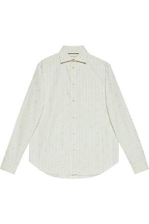 Gucci Fil-Coupé-Hemd mit GG-Streifen