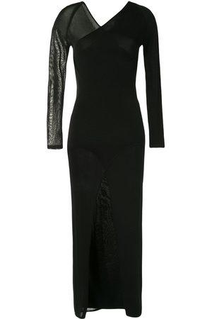DION LEE Asymmetrisches Kleid mit langen Ärmeln