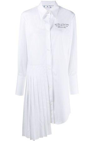 Off-White Damen Freizeitkleider - Hemdkleid mit Logo-Stickerei
