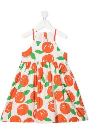 Stella McCartney Kids Kleid mit Orangen-Print