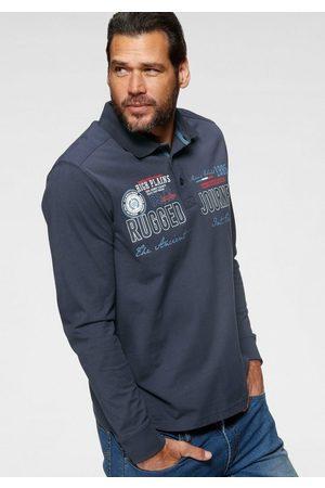 Man's World Langarm-Poloshirt mit aufwendigem Front- Print