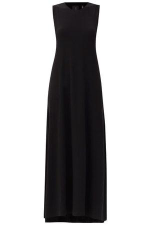 Norma Kamali Round-neck Jersey Maxi Swing Dress