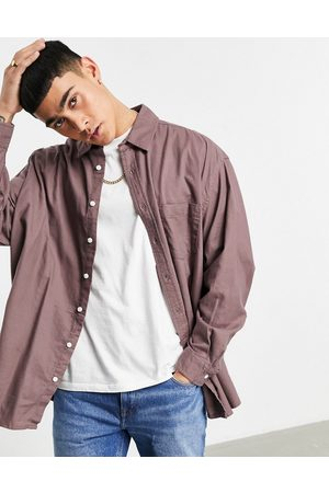 ASOS – Flanellhemd in extremer Oversize-Passform in Taupe