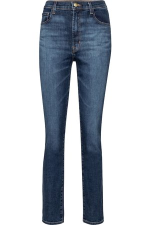 J Brand High-Rise Slim Jeans Tegan