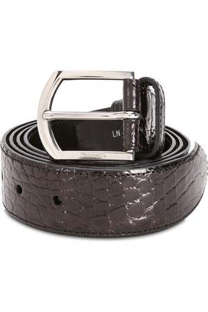 Church's Brown crocodile leather belt