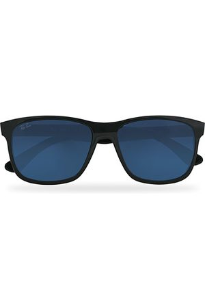 Ray-Ban Herren Sonnenbrillen - RB4181 Sunglasses Shiny Black/Blue