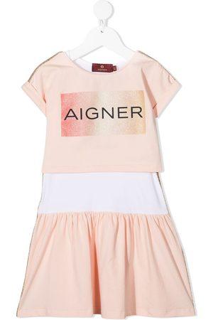 Aigner Kids Kleid mit Logo-Print