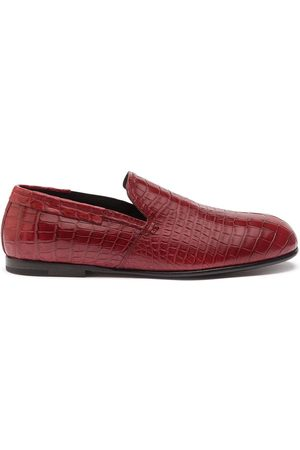 Dolce & Gabbana Herren Halbschuhe - Loafer aus Krokoleder