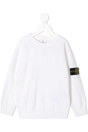 Stone Island Gerippter Pullover mit Logo-Patch