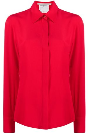 Stella McCartney Seidenhemd mit verdeckter Knopfleiste