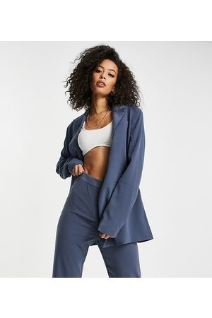 4th & Reckless Tall – Oversize-Blazer in Stahlblau