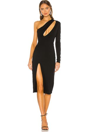 h:ours Pagne Midi Dress in . Size XXS.